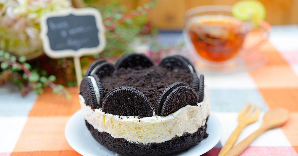 Фото Нежный чизкейк с печеньем