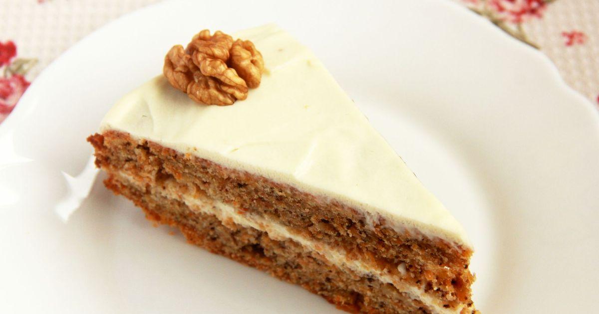 Фото Морковный торт с грецкими орехами