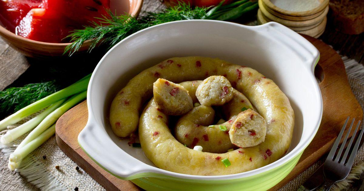 Фото Картофельная колбаса