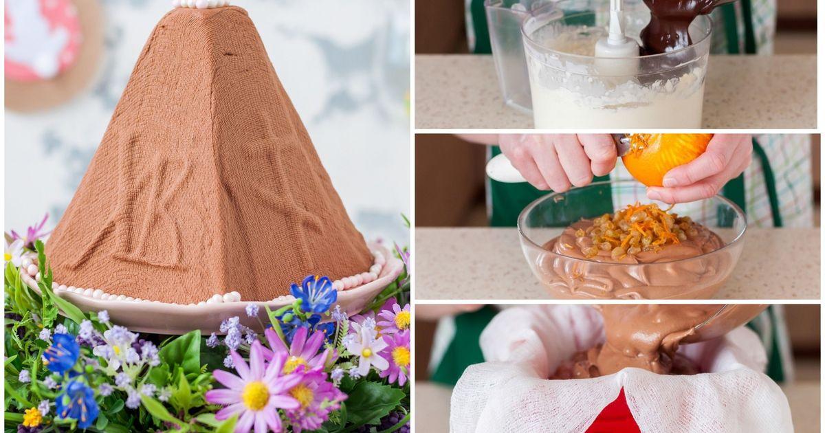 Фото Шоколадная пасха с изюмом