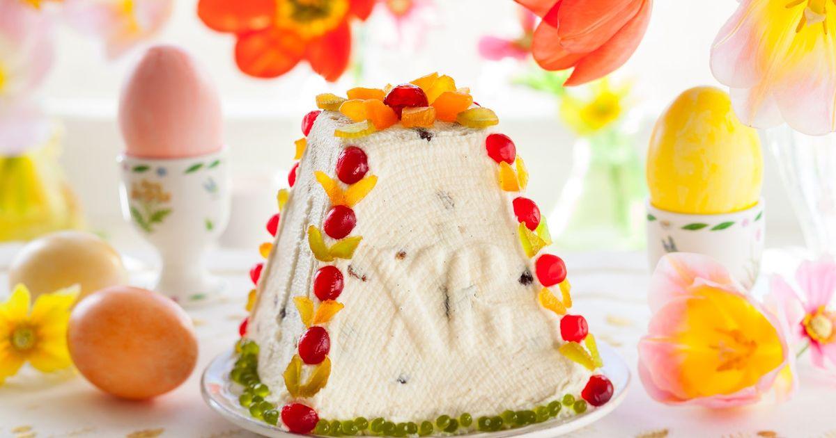 Фото Творожная пасха с цукатами