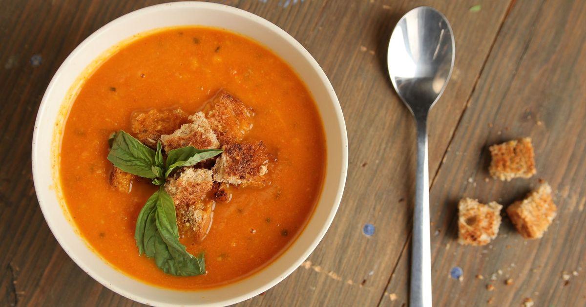 Фото Крем-суп из молодой моркови и имбиря