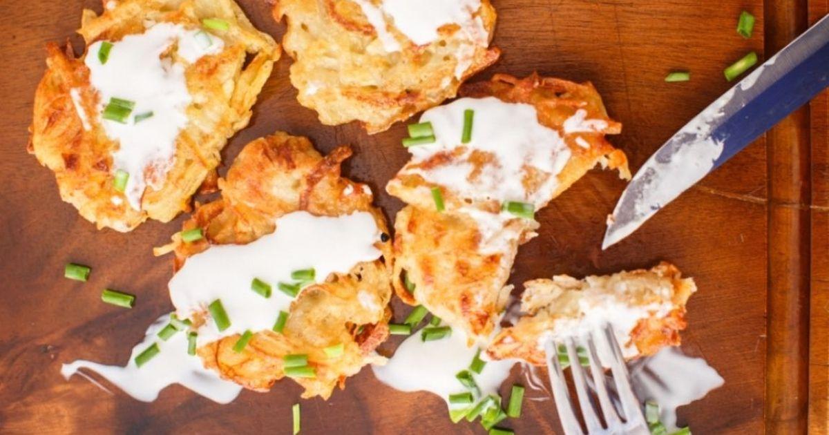 Фото Аппетитные картофельные драники с сыром