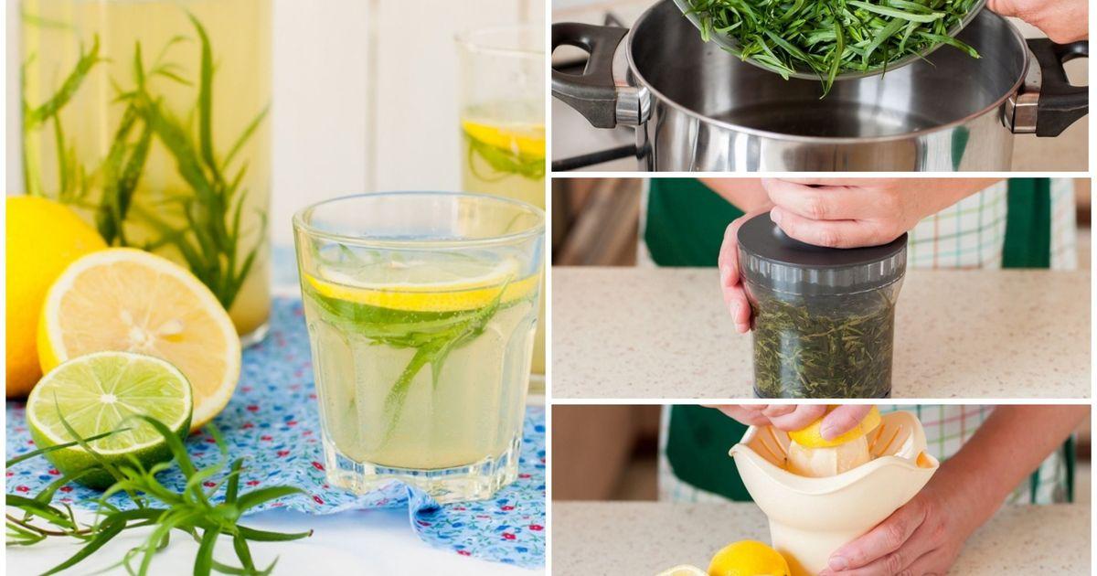 Фото Домашний лимонад с тархуном: пошаговый фото рецепт