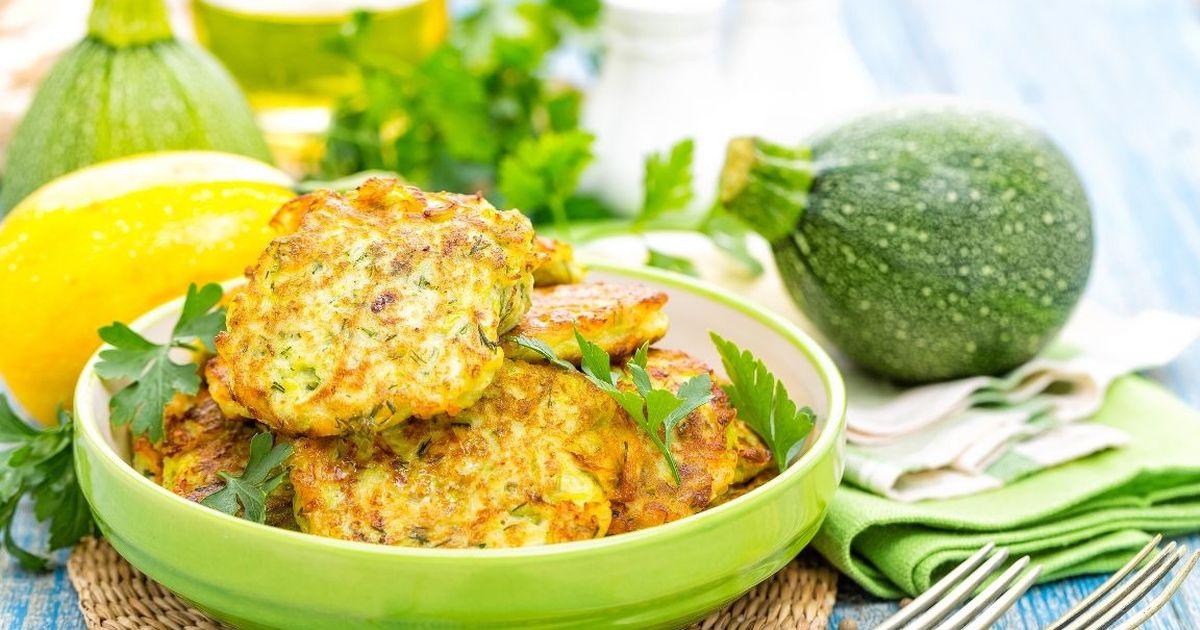 Фото Аппетитные картофельно-кабачковые оладьи