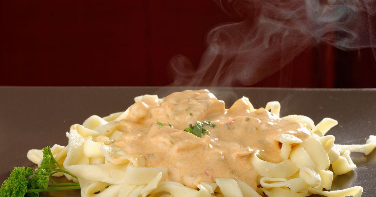 Фото Феттучини в сливочном соусе