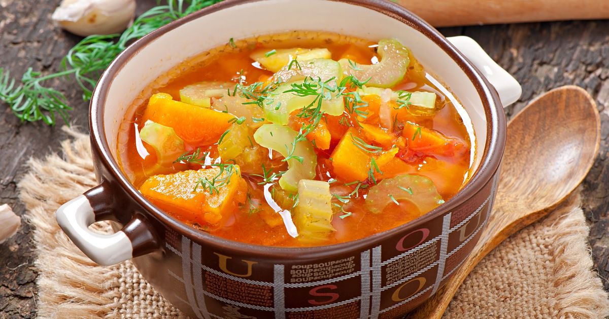 Фото Томатный суп с овощами