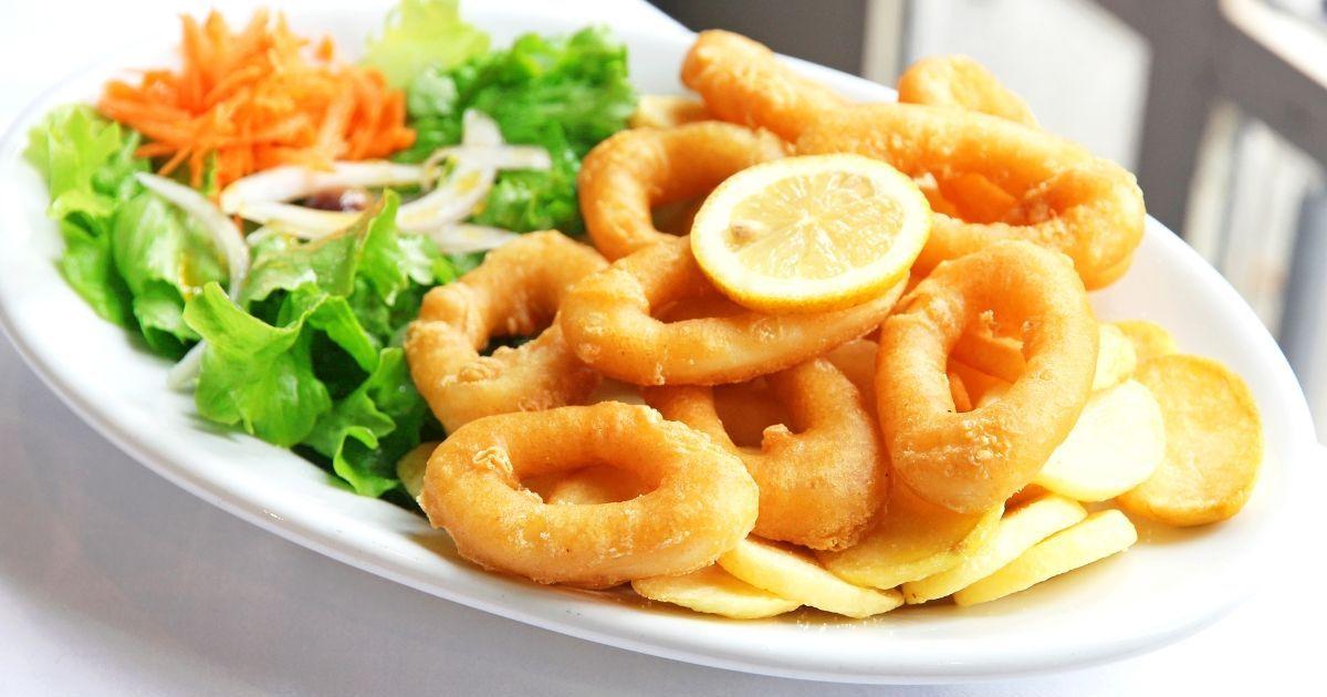 Фото Вкуснейшие кольца кальмара в кляре