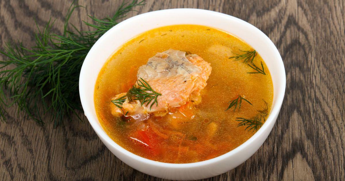Фото Рыбный суп с брюшками лосося