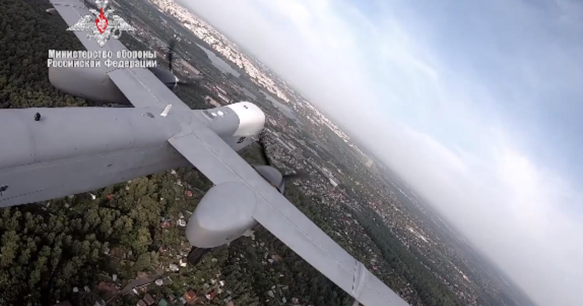 Фото Минобороны показало первый полет новейшего беспилотника