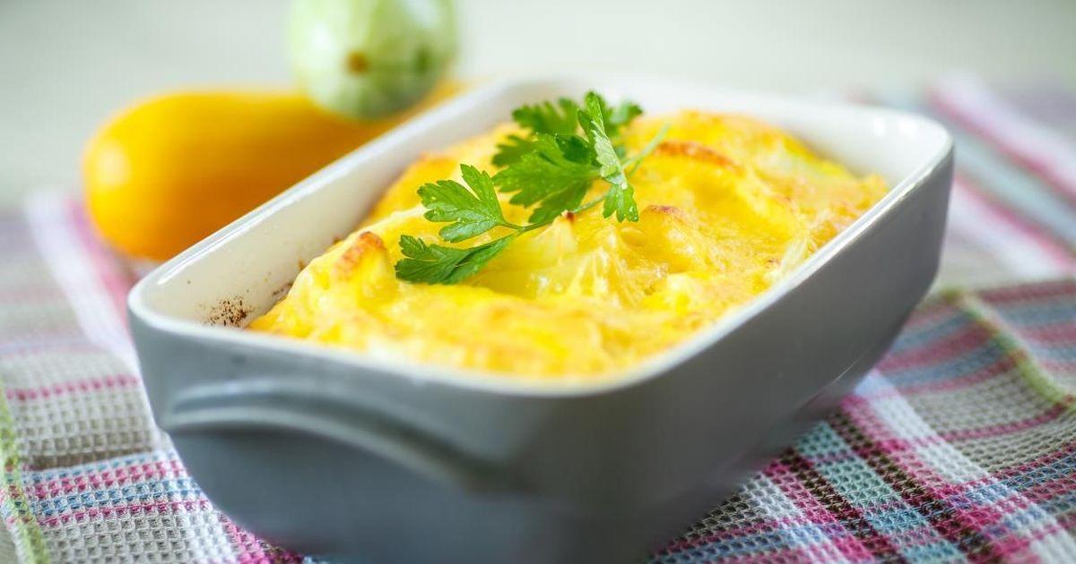 Фото Аппетитная кабачковая запеканка под сырной шапкой