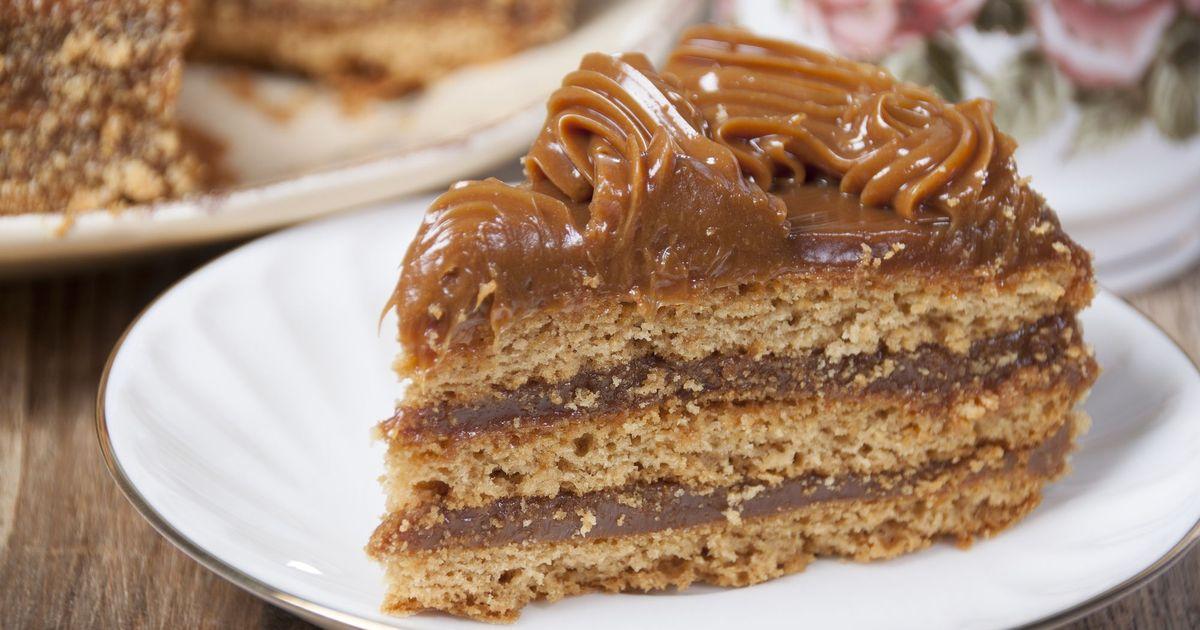 Фото Шоколадный торт со сгущенкой