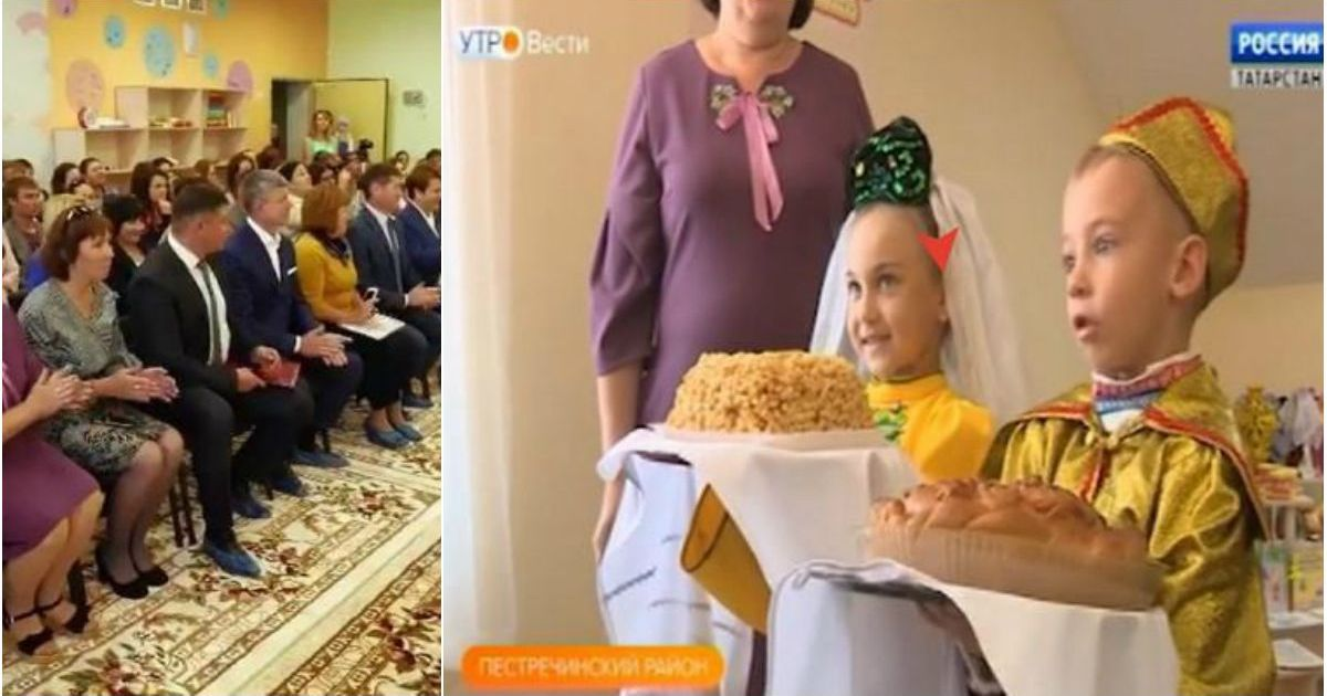 Фото На торжественное открытие детсада привезли подставных детей