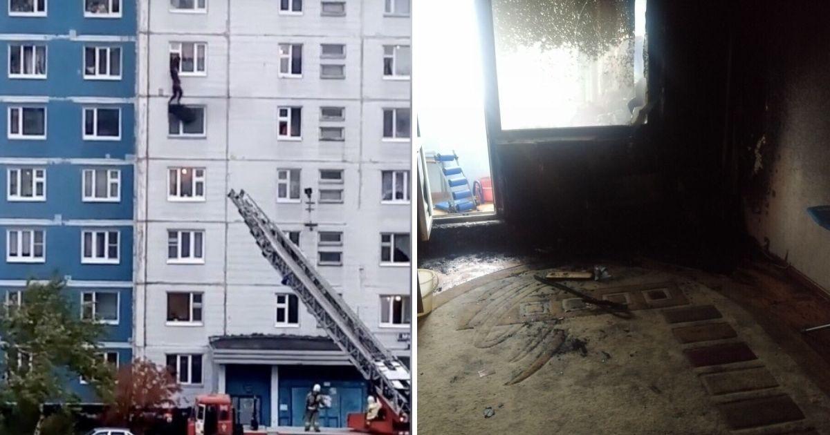 Фото В Нижневартовске дагестанец вытащил девушку из пожара через окно