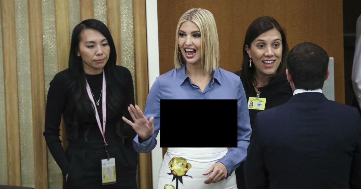 Фото Неудачная рубашка. Дочь Трампа показала лишнее в Генассамблее ООН