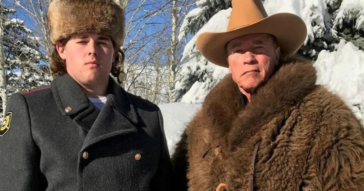 Фото Россияне штyрмyют страницу Шварценеггера в соцсетях из-за фотографии с сыном