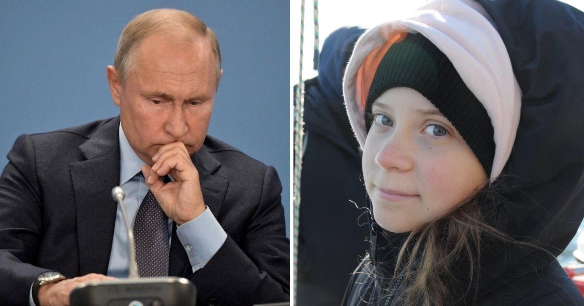 Фото Грета Тунберг ответила президенту РФ, потроллив его в твиттере
