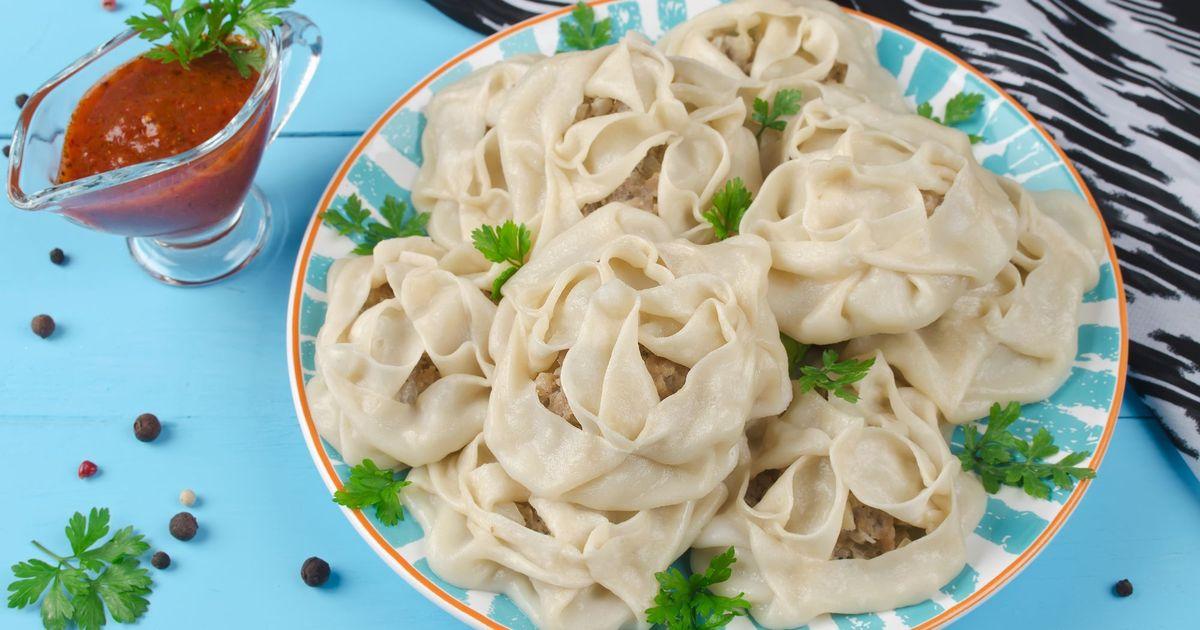 Фото Узбекские манты с мясом