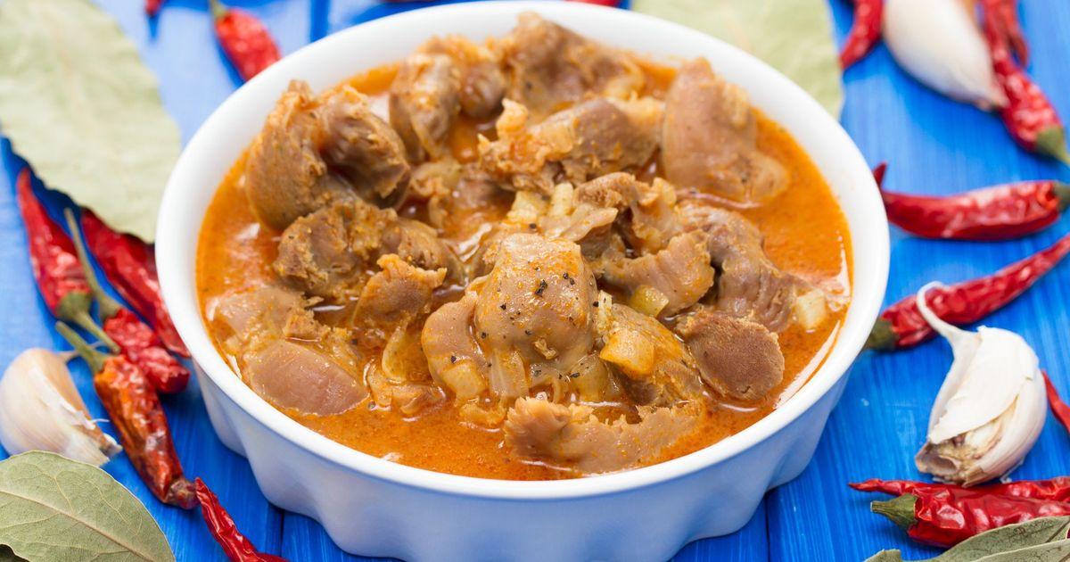 Фото Куриные желудки в сметанно-томатном соусе
