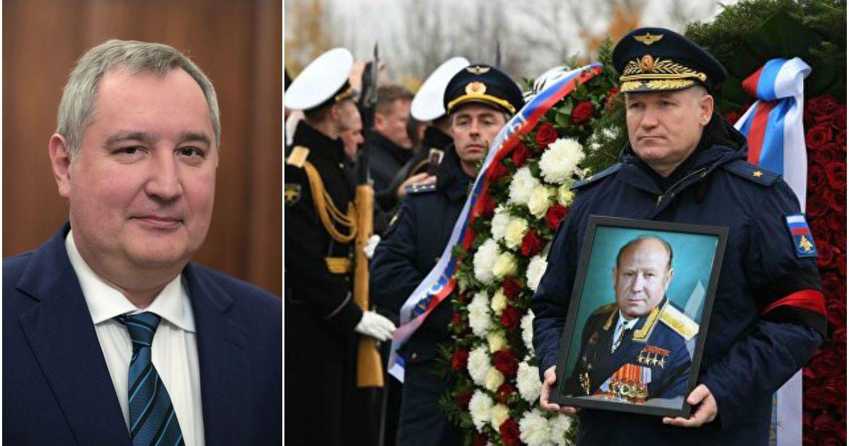 Фото Роскосмос объяснил, почему Рогозин не пришел на похороны Леонова
