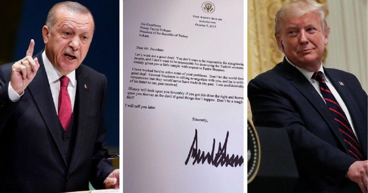 Фото Эрдоган выкинул в мусор резкое письмо от Трампа. В Кремле удивлены