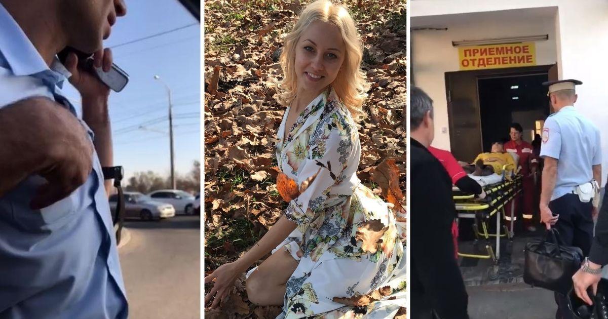 Фото В Краснодаре ДПСники вытащили женщину-водителя из машины через окно