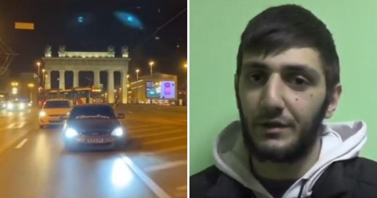 Фото Чеченец извинился на камеру за ночную пальбу в Петербурге