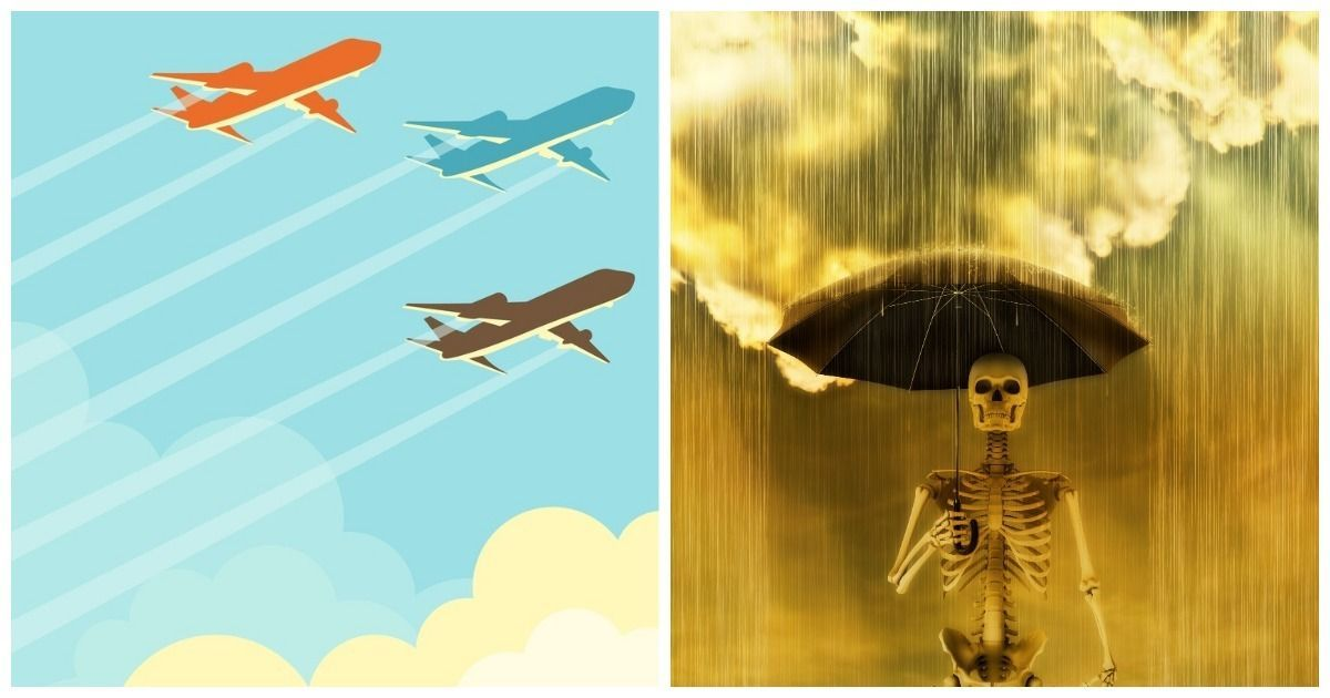 Фото Зачем самолеты сбрасывают топливо в полете? Достигает ли керосин земли?