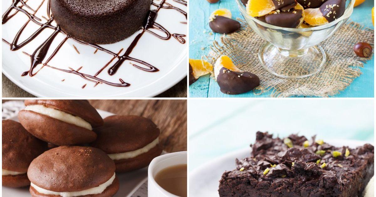 Фото Сладкая подборка необычных десертов из шоколада для всей семьи