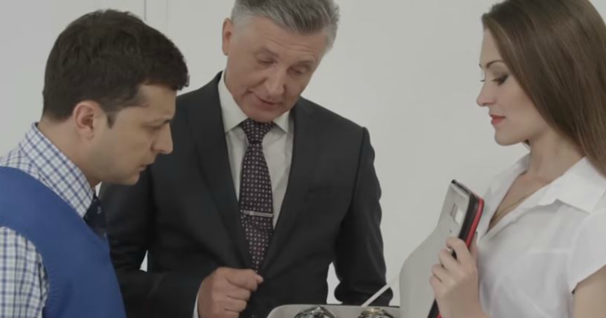Фото ТНТ снял с эфира «Слугу народа» Зеленского после шутки про Путина
