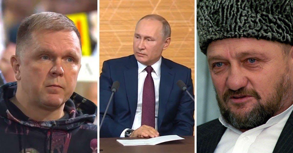 Фото Путин объяснил, за что сделал Кадырова и его отца Героями России