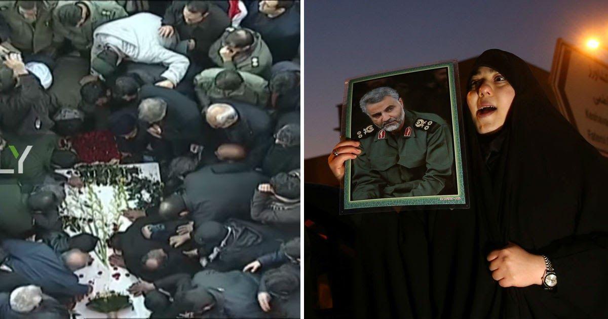 Фото Генерал Сулеймани погребен после страшной давки на церемонии прощания