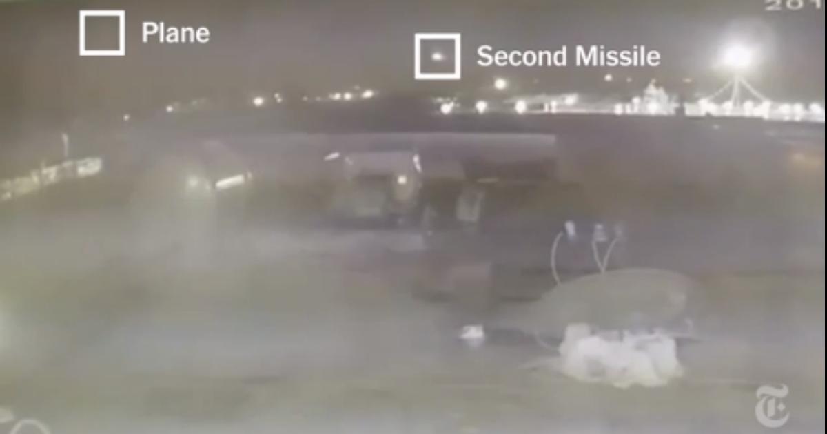 Фото Новое видео падения украинского «Боинга»: на записи видно две ракеты