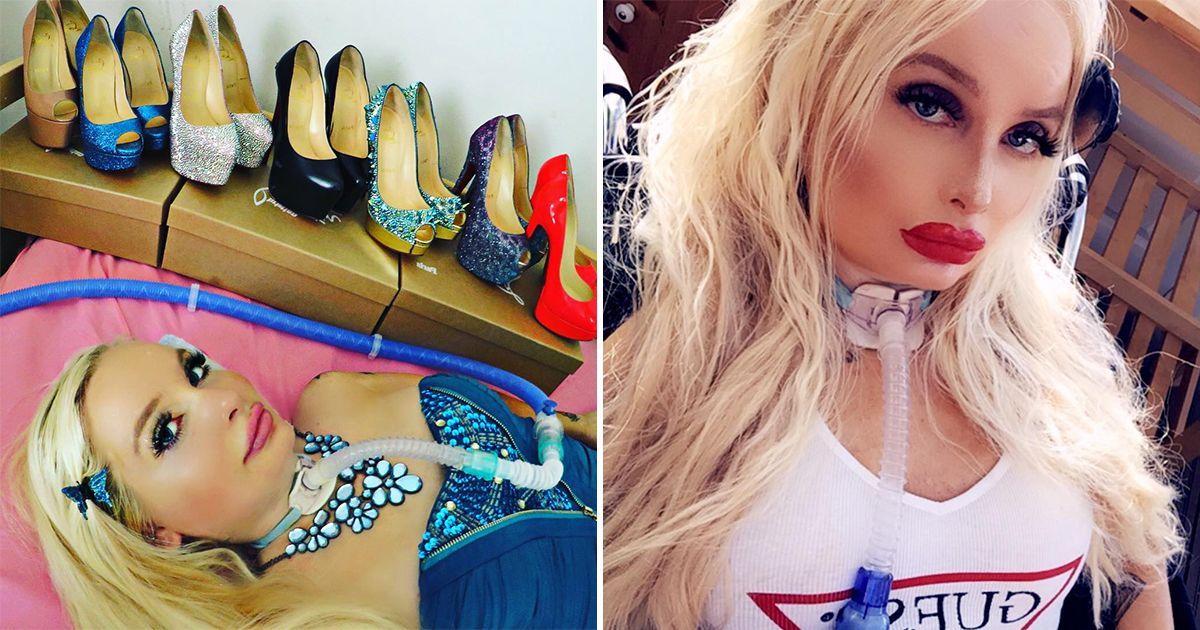 Фото Обездвиженная женщина следит за модой и учит людей макияжу