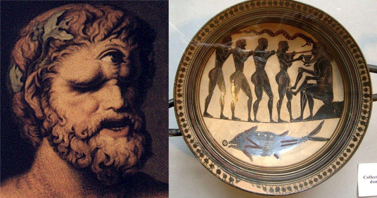 Фото Циклоп и Одиссей: миф о хитроумном Одиссее в пещере Полифема на острове циклопов