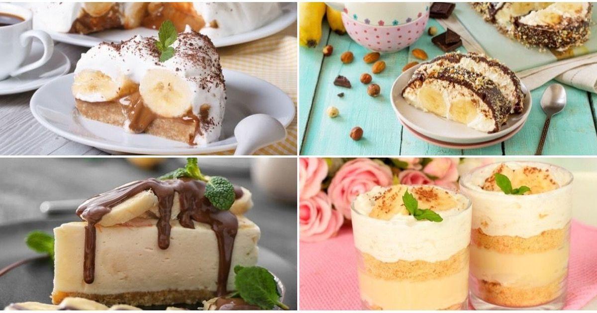 Фото ТОП-7 десертов со вкусом банана