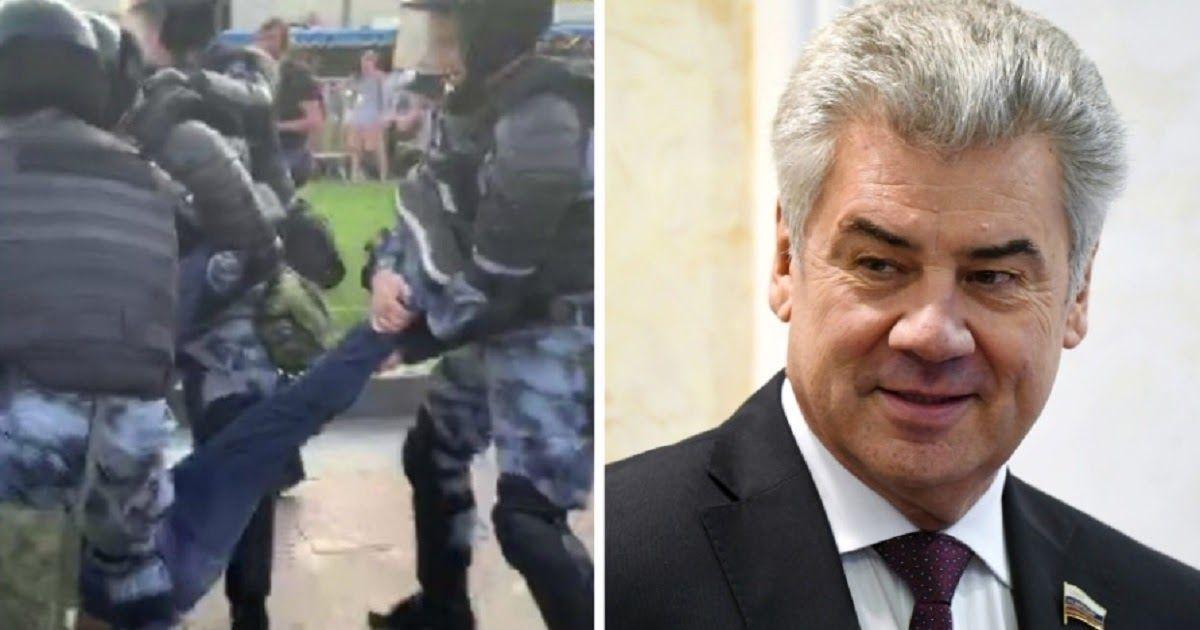Фото Сенатор: росгвардейцы наказаны за разгон акций в Москве,