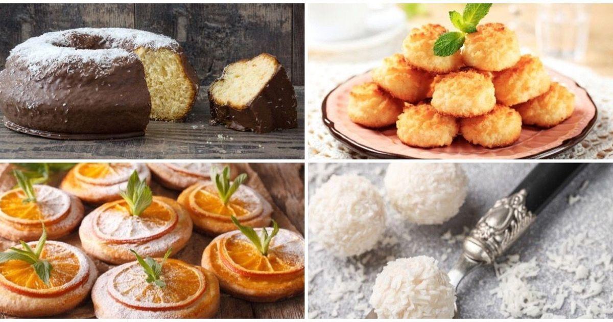 Фото Подборка десертов с кокосовым вкусом