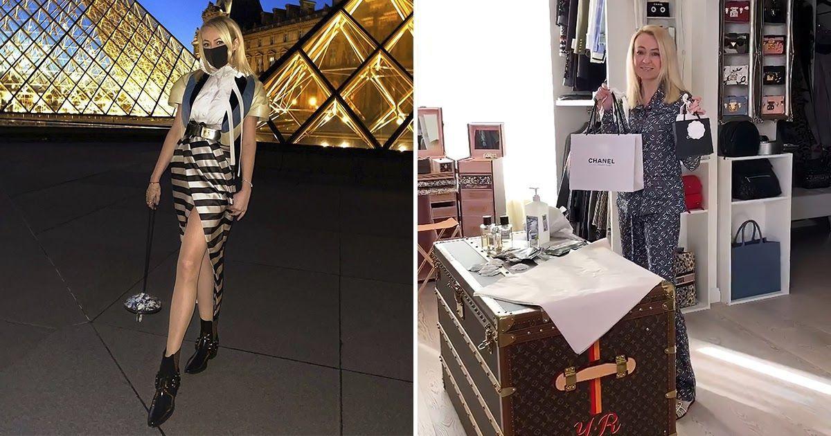 Фото Рудковскую раскритиковали за маски от коронавируса с цветами Chanel