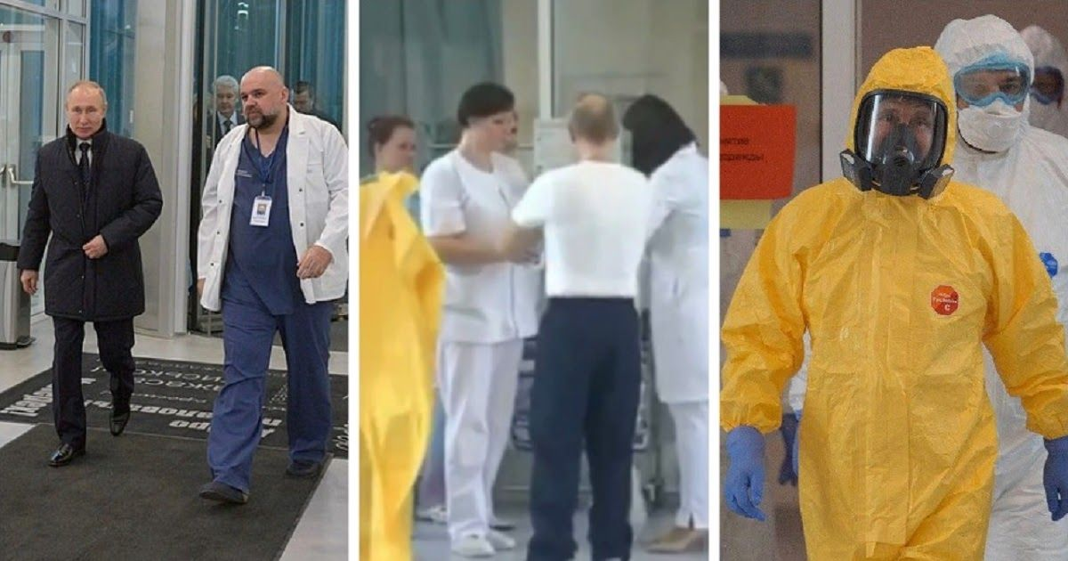 Фото Путин приехал в больницу в Коммунарке и пообщался с пациентами