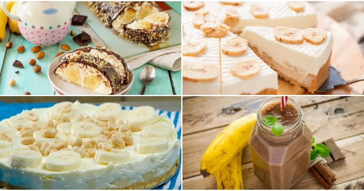 Фото ТОП-7 банановых десертов