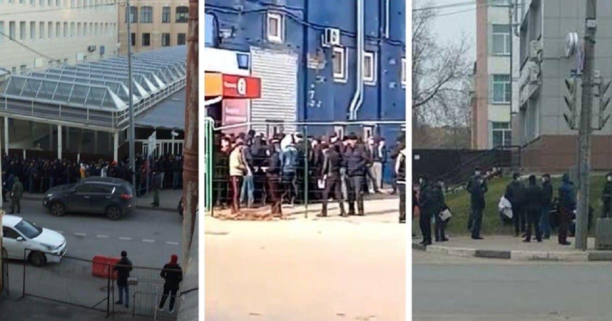 Фото Какой карантин? Россияне жалуются на толпы мигрантов у дверей УФМС