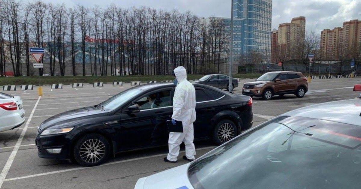 Фото Угроза Собянина в действии: за нарушение карантина схвачен первый водитель