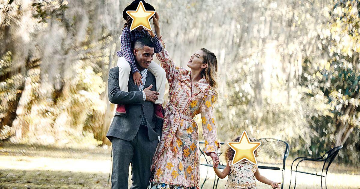 Фото Как выглядят дети европейской модели и ее мужа - темнокожего диджея