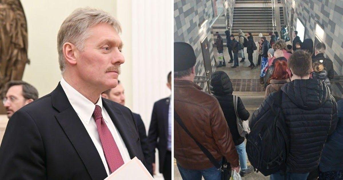 Фото Песков связал столпотворение в метро с низкой дисциплиной москвичей