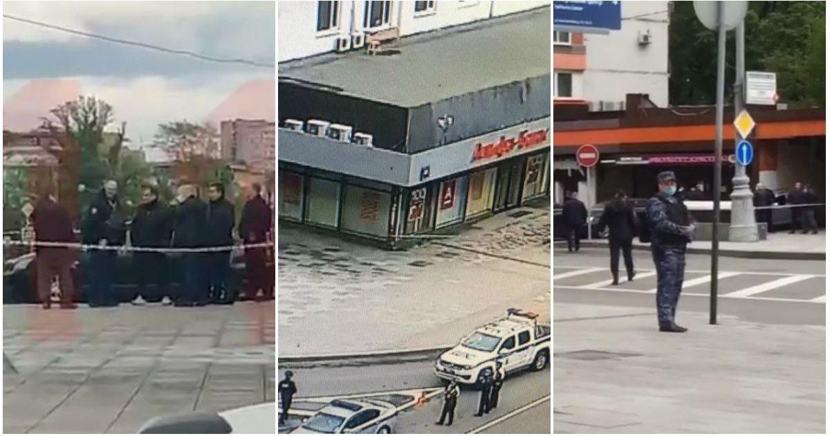 Фото В центре Москвы захватили заложников в здании