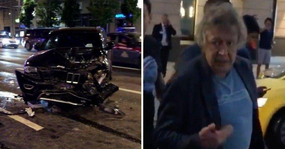 Фото Полиция: Михаил Ефремов находился один в машине в момент ДТП