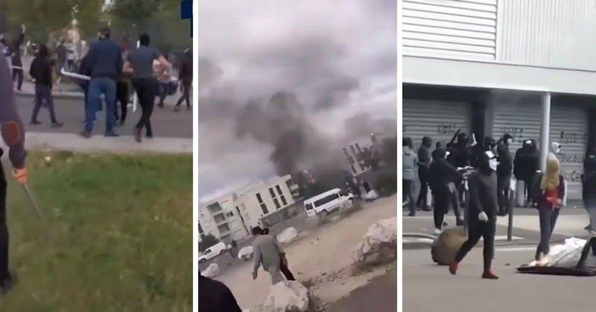Фото Погромы в Дижоне: чеченцы со всей Франции съехались мстить за земляка