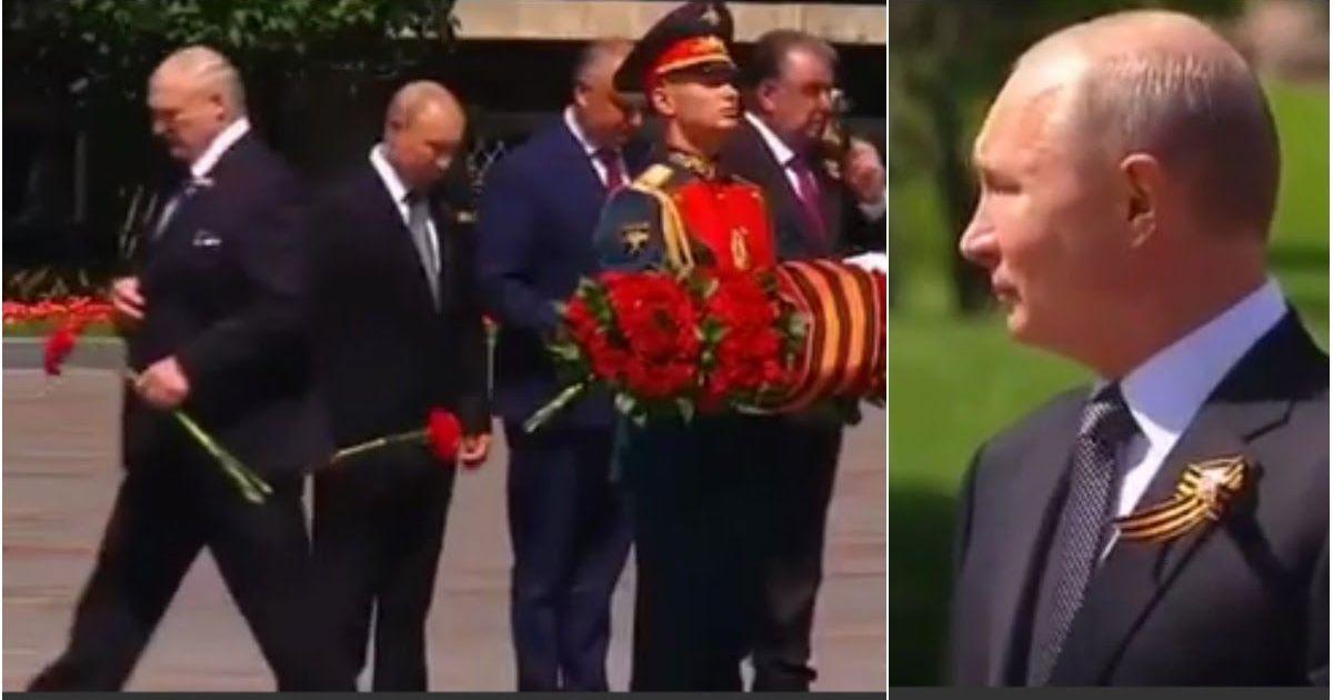 Фото Лукашенко устроил шоу для Путина на параде и не стал стоять с ним рядом