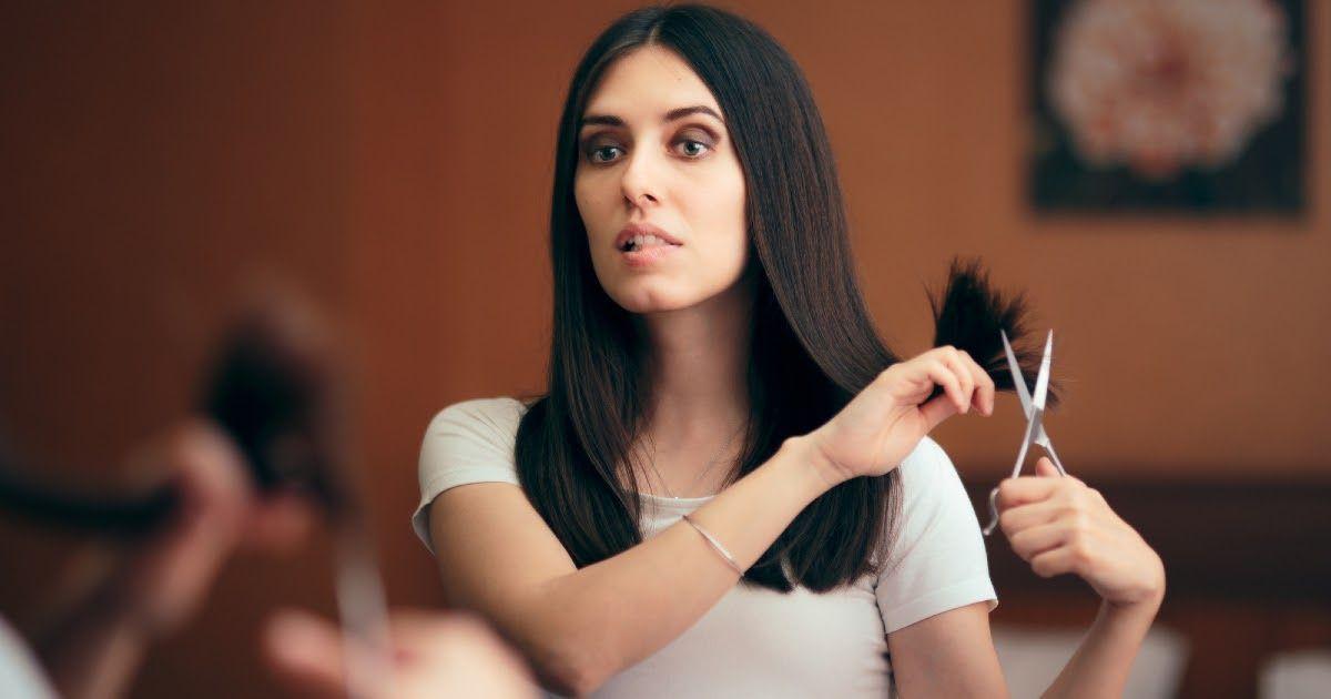 Фото Как самому подстричь волосы? Какую прическу можно сделать самостоятельно? Можно ли себя стричь?